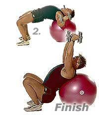 Image 2 - Flat Dumbbell Flyes on Sissel Swiss Ball Pro