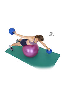 Image 2 - Front Crawl on Sissel Exercise Ball with Sissel Power Weight Ball