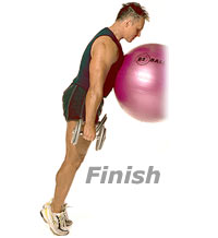 Image 2 - Incline Standing Calf Raises with Sissel Exercise Ball and Dumbbells