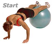 Thumb - Prone Knee Pull-Ins on Sissel Exercise Ball