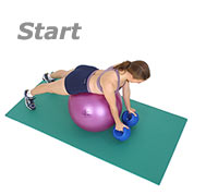 Prone Reverse Fly on Sissel Exercise Ball with Sissel Power Weight Ball