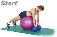 Thumb - Prone Row on Sissel Exercise Ball with Sissel Power Weight Ball