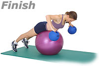 Image 2 - Prone Row on Sissel Exercise Ball with Sissel Power Weight Ball