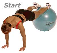 Push-Ups with Feet on Sissel Exercise Ball (Level 2)