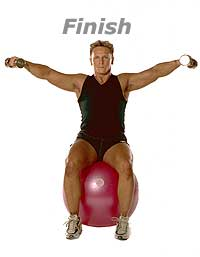Image 2 - Seated Lateral Dumbbell Raises with Swiss Ball Pro