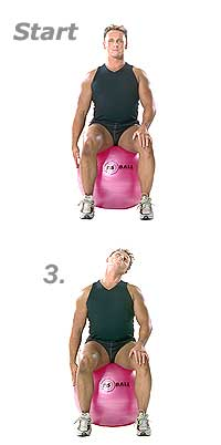 Seated Neck Stretch on Sissel Exercise Ball