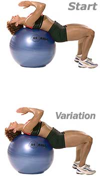 Thumb - Supine Abdominal Stretch with Sissel Exercise Ball