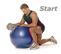 Dumbbell Wrist Curls and Extensions on Sissel Swiss Ball Pro