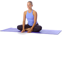 Yoga: Crossed leg forward bend