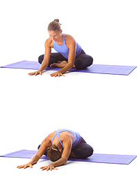 Image 2 - Yoga: Crossed leg forward bend
