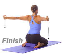 Image 2 - Yoga: Hero shoulder opener with blocks and straps