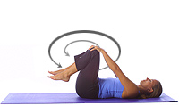 Yoga: Lower back massage/knee circles