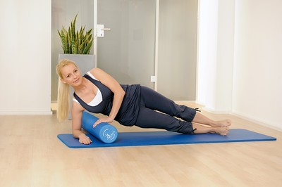 Image Pro Pilates Roller - 90cm (solid blue) - including exercise poster