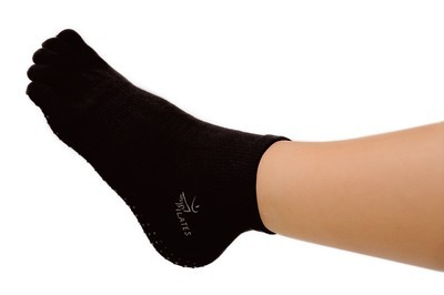 Image L/XL black cotton pilates sock